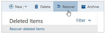 deleted items folder
