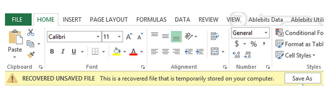 recover unsaved file