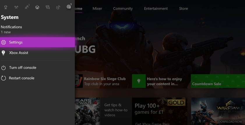 redownload xbox one game files from settings