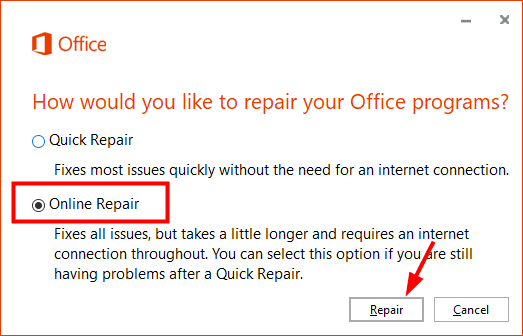 repair-outlook-online