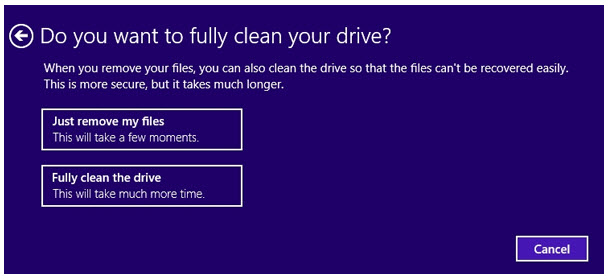 full clean the drive
