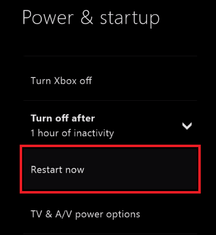 restart xbox from guide