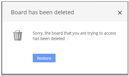 restore deleted board