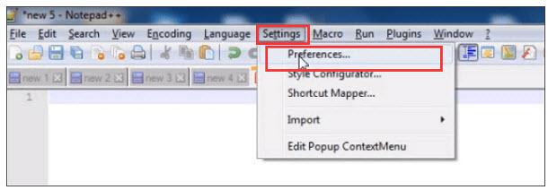 notepad backup location