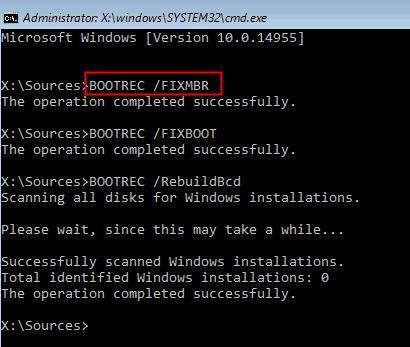 run bootrec.exe utility