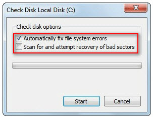 check disk local disk