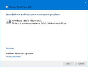 run windows player troubleshooter