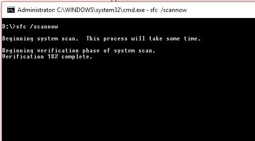 sfc scan command prompt