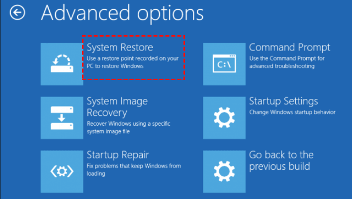 Your PC Did Not Start Correctly - System Restore