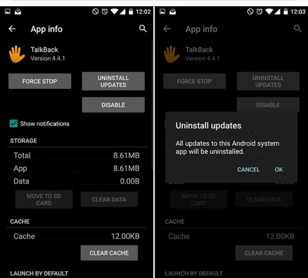 uninstall app on android