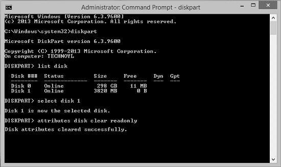 unlock sd card with cmd