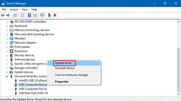 update device manager
