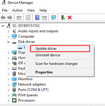update disk driver