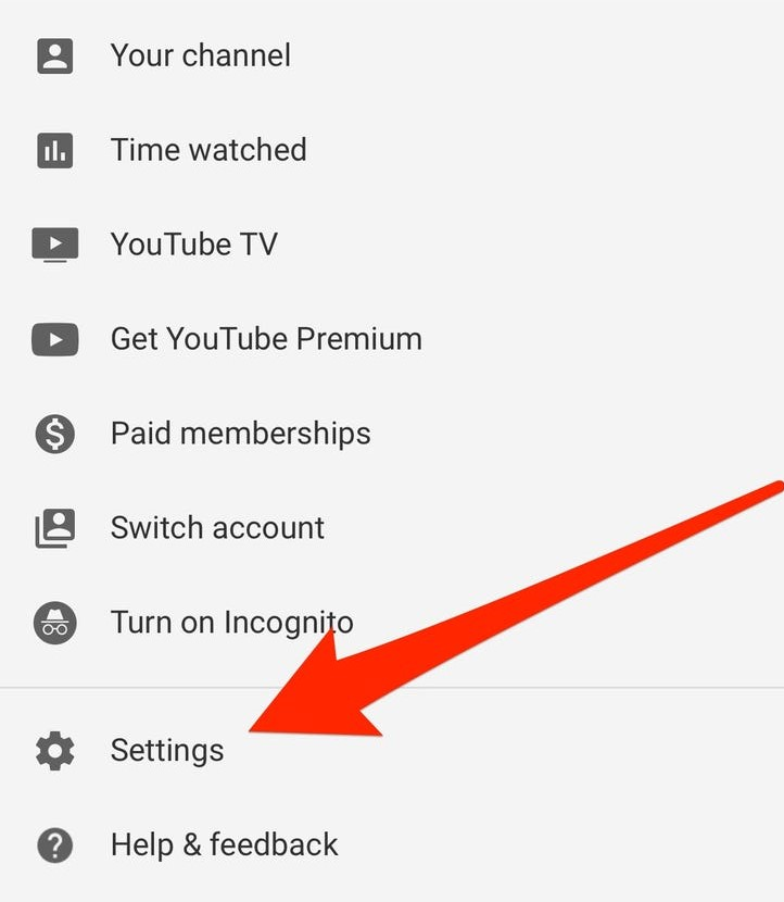 youtube tv settings