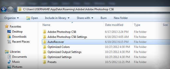 psd file recovery autosave windows