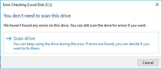 check hard drive