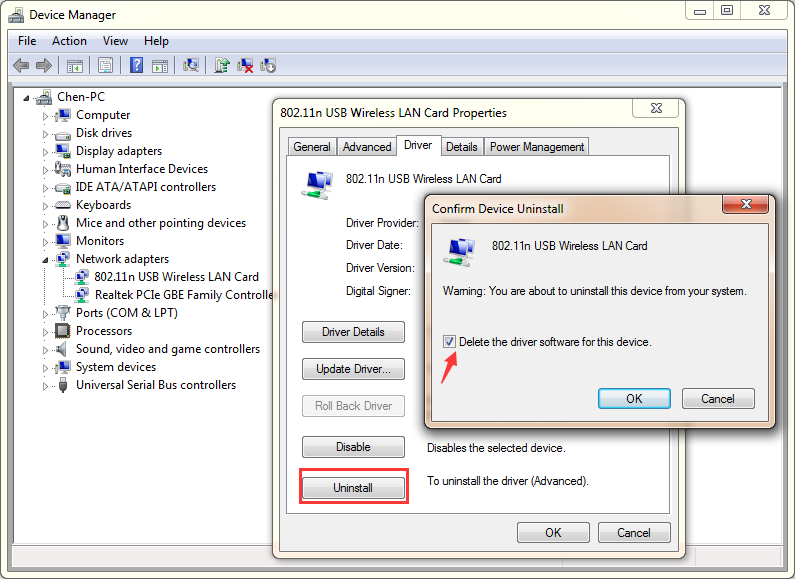uninstall sd card reader drive
