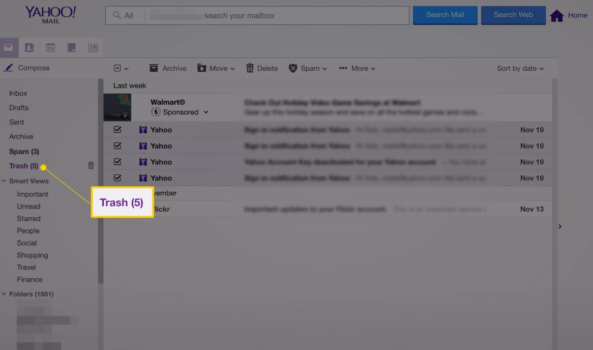 yahoo email recovery