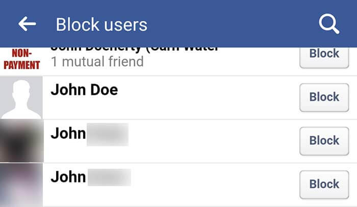 check blocked users fb