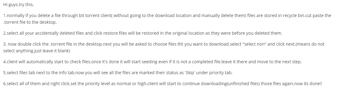 tips from forum