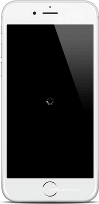 iPhone stuck on black screen with spinning wheel