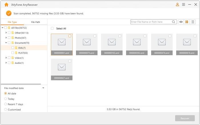 recuperar email