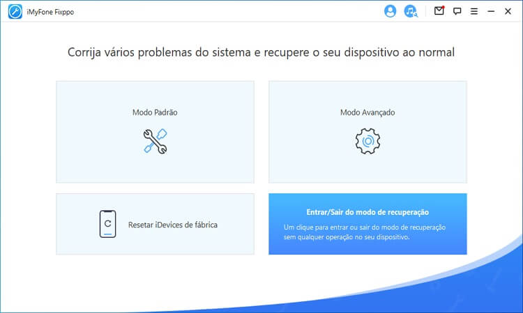 choose Enter/Exit Recovery Mode on the Home page