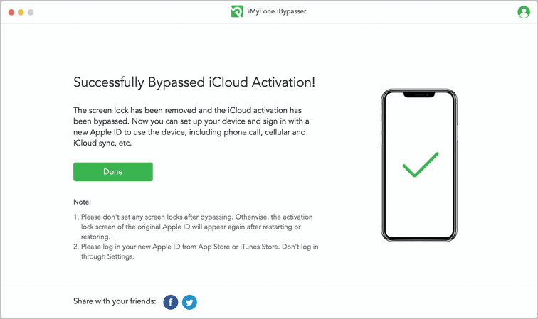 Activation bypassed successfully