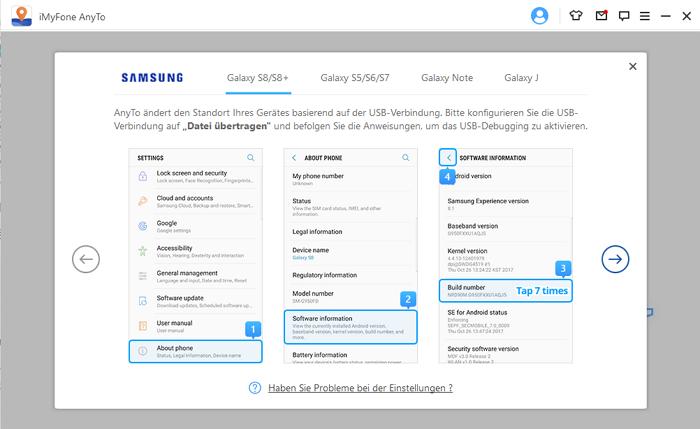 So aktiveiren Sie Mock Location auf Samsung-Handy und