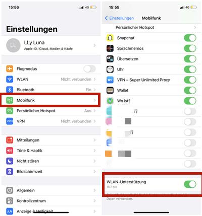 iPhone WLAN Verbundung überprüfen