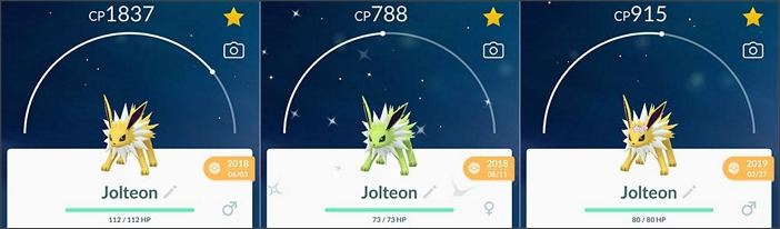 Shiny Blitza ist ein Evoli-Pokémon