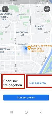 Android über Standort-Link teilen