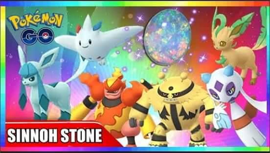sinnoh stein pokemon go bekommen