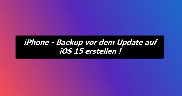 iPhone vor dem Update sichern