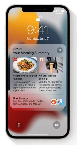 iOS 15 Mitteillungen