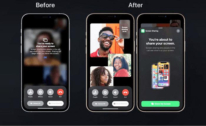 iOS 15 FaceTime update