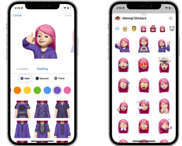 iOS 15 Neue Memoji in Nachrichten
