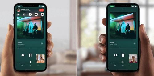 iOS 15 Bildschirm mit SharePlay teilen