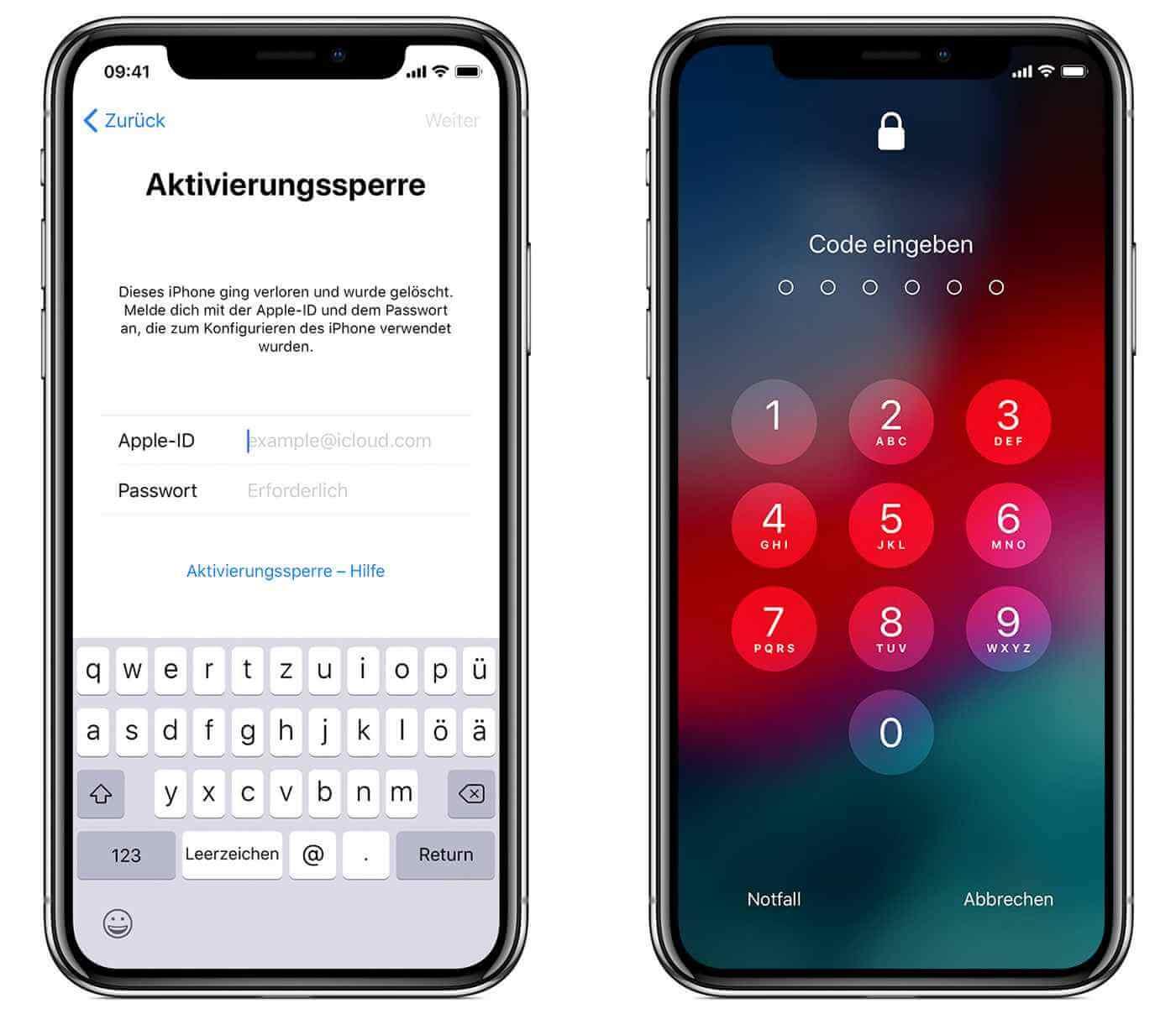 iPhone Aktivierungssperre Bildschirm