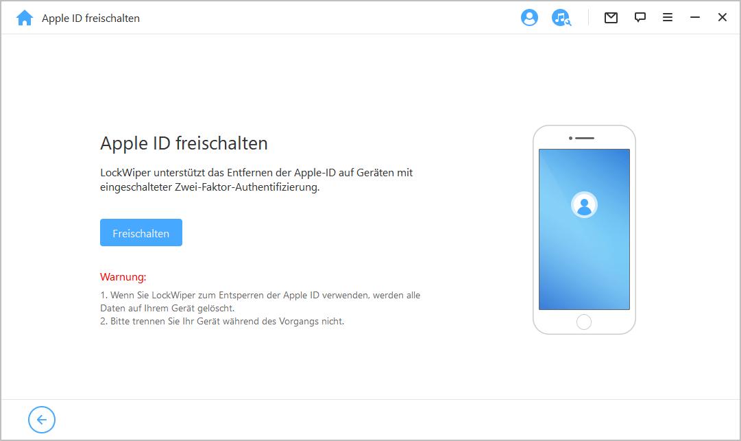 Apple ID mit LockWiper entfernen