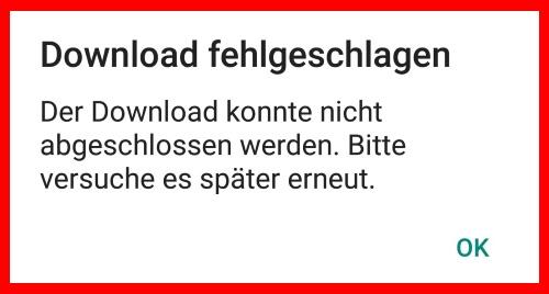 WhatsApp Download fehlergeschlagen