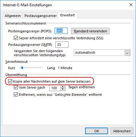Outlook Konto ändern