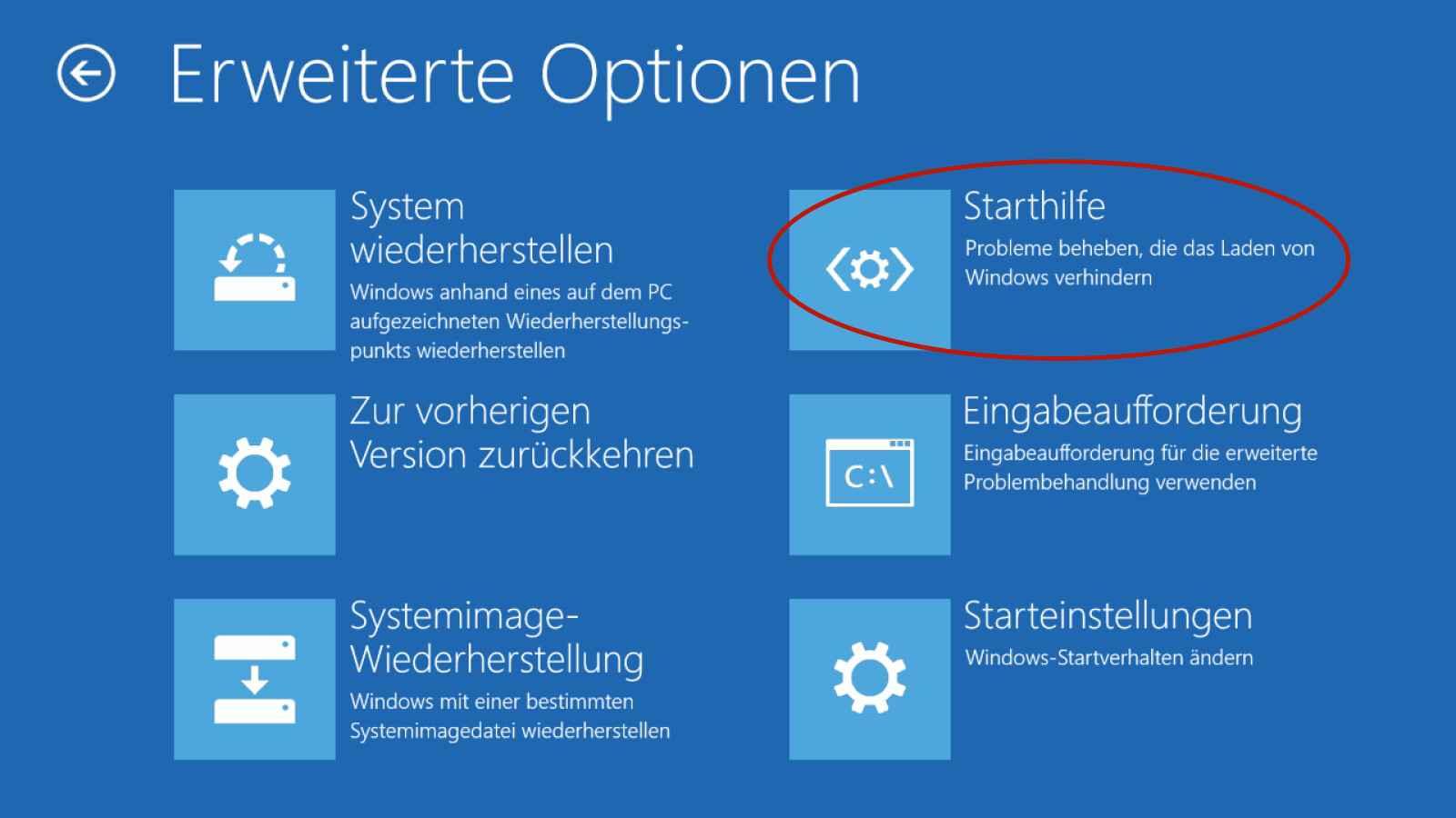 Windows Starthilfe