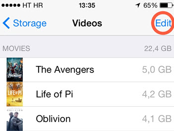 iphone video deleting