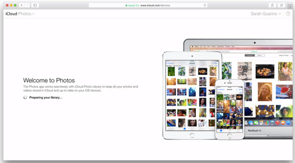moving photos to icloud