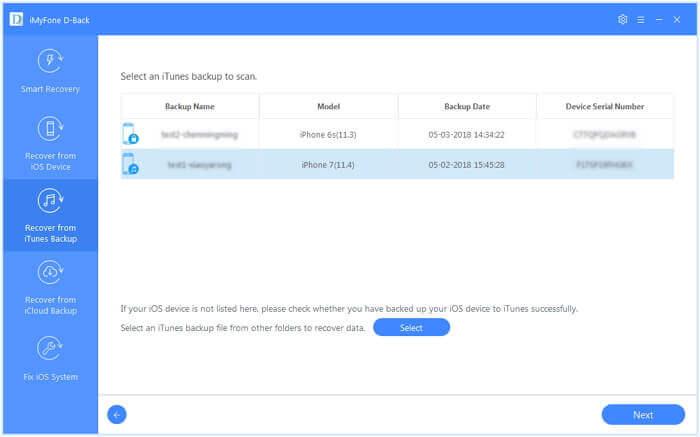 Gelöschte Notizen aus iTunes-Backup mit D-Back wiederherstellen