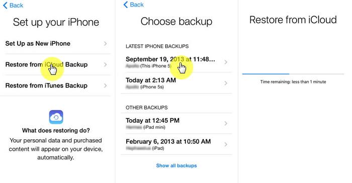 gelöschte Notizen iCloud wiederherstellen