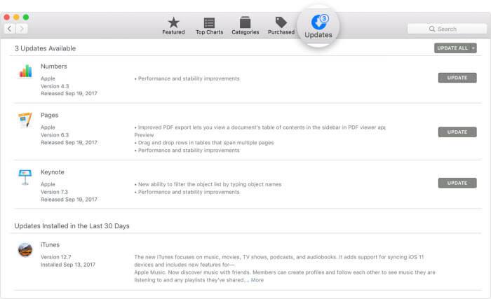 update iTunes unter Mac