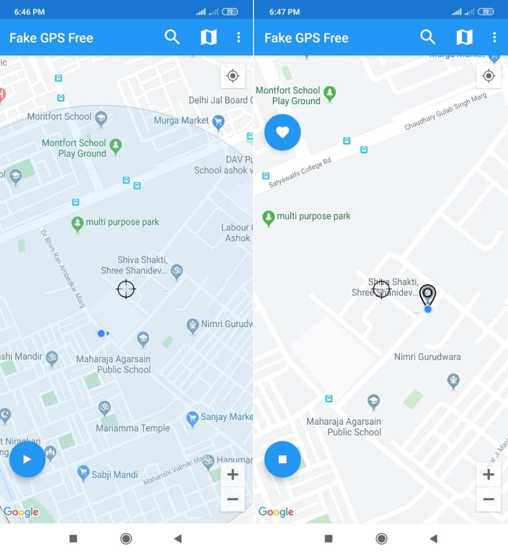 Starten Fake GPS