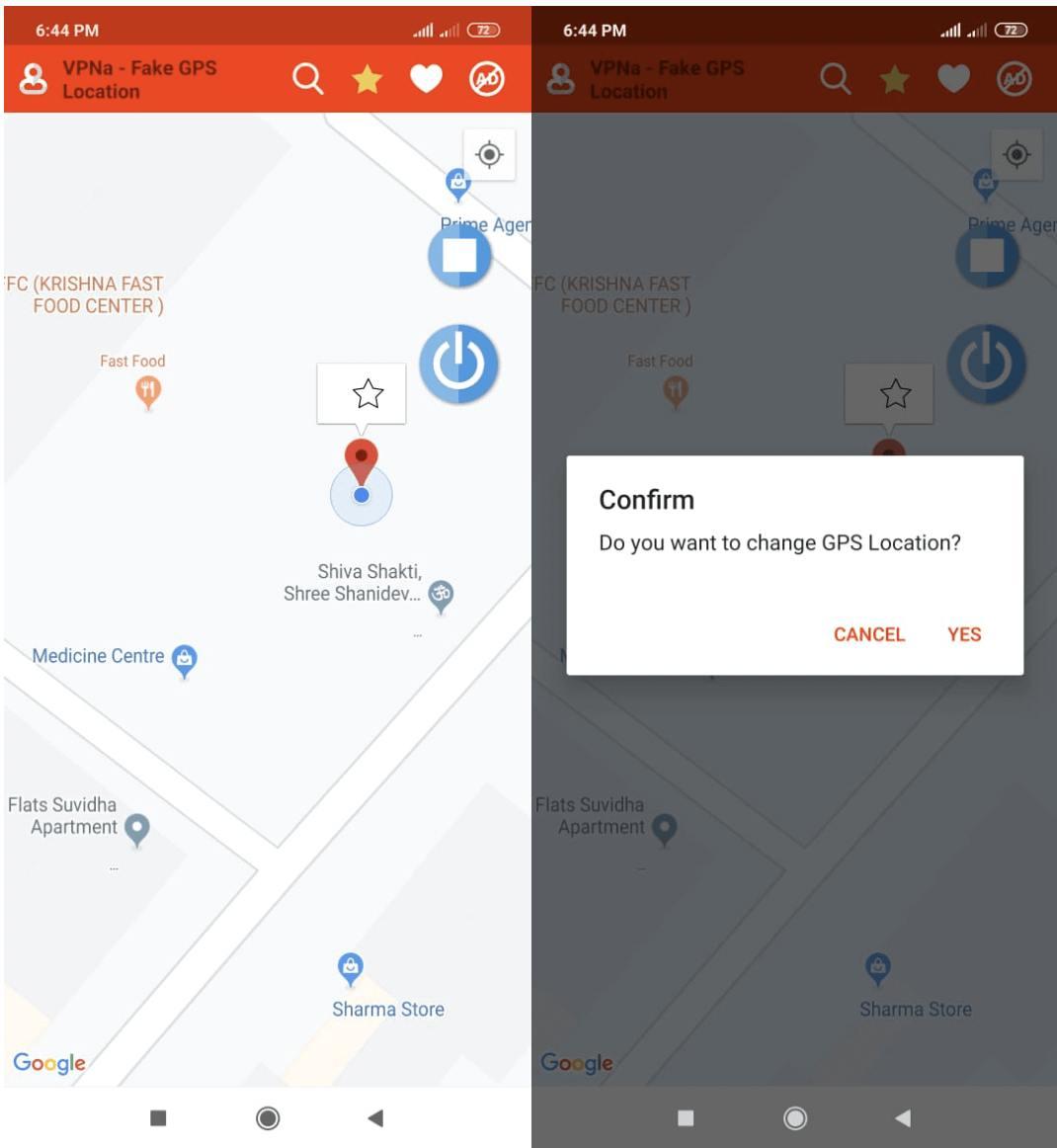 fake gps mit vpn app